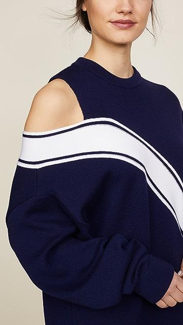 Monse Falling Racing Stripe Sweater