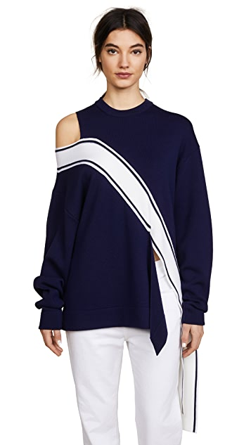 Monse Falling Racing Stripe Sweater