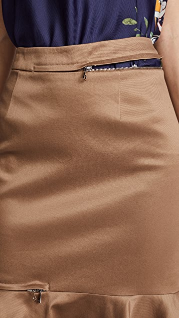 Monse Zip Trumpet Skirt