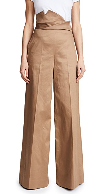 Monse High Waisted Wide Leg Trousers