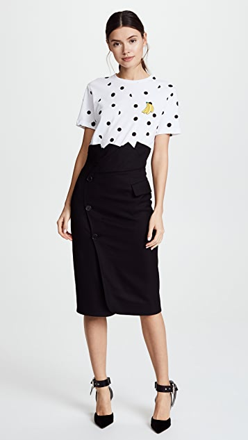 Monse Collar Waist Pencil Skirt