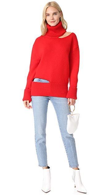 Monse Cutout Turtleneck Sweater