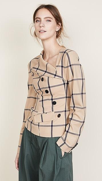 Monse Louise Plaid Twisted Jacket