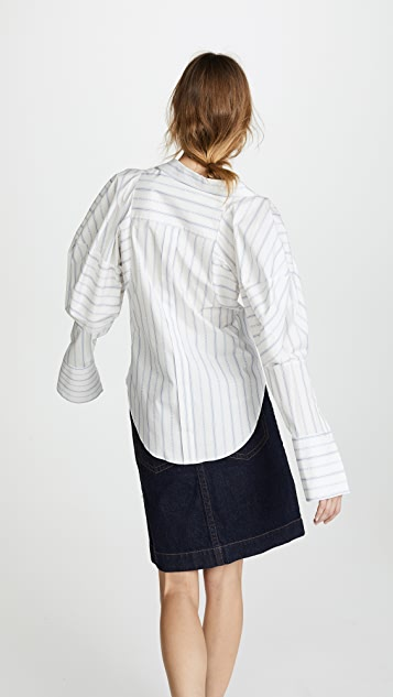 Monse Melting Sleeve Stripe Shirt