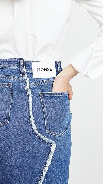 Monse Denim Back Pencil Skirt
