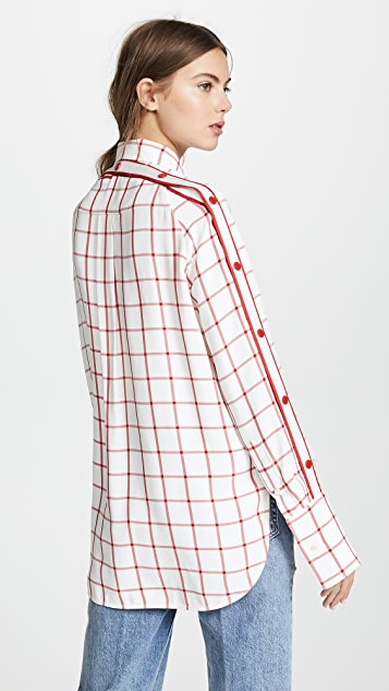 Monse Windowpane Snap Shirt