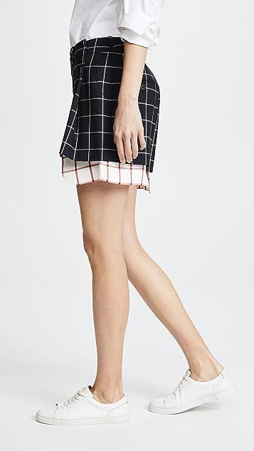 Monse Peek a Boo Windowpane Shorts