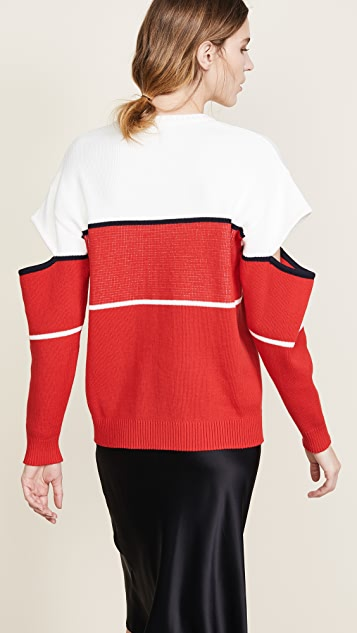 Monse Monse Slashed Sleeve Pullover
