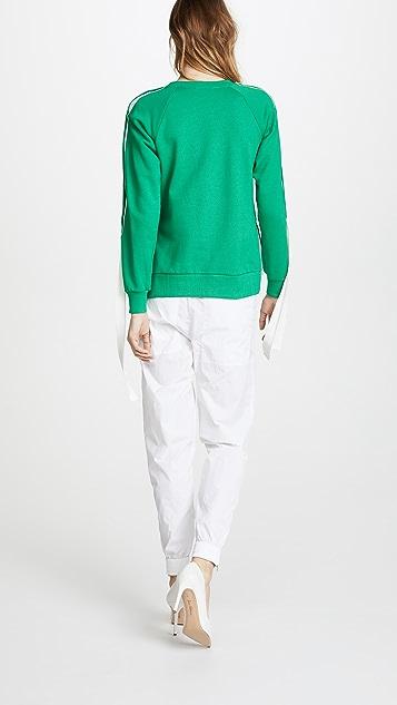 Monse Raglan Snap Sleeve Pullover