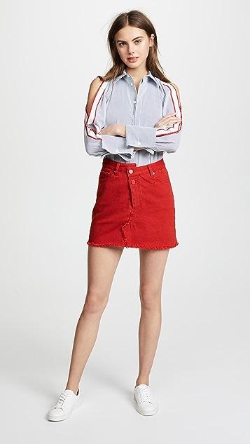 Monse Reconstructed Denim Miniskirt
