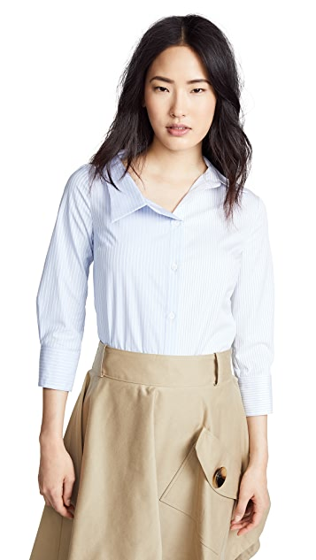 Monse Split Stripe Cotton Shirt