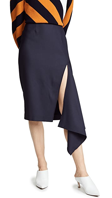 Monse Stretch Tux Slash Skirt
