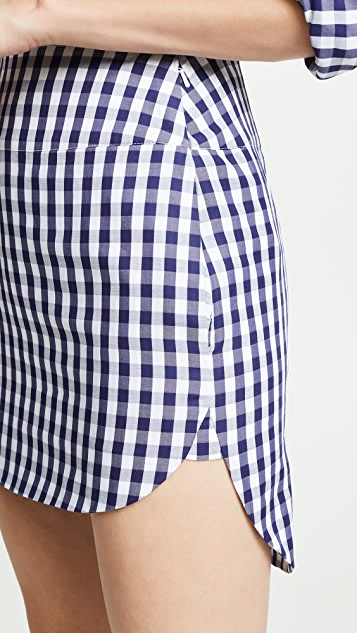 Monse Gingham Shirttail Skirt