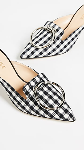 Monse Gingham Mules