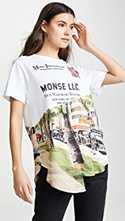Monse Torn Scenic Shirt Tail