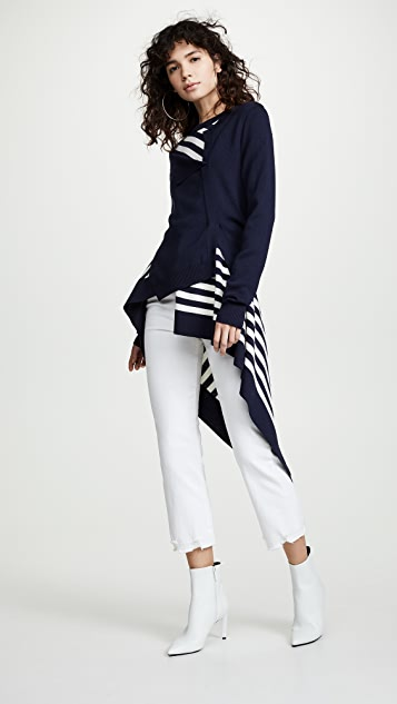 Monse Striped Twisted Cardigan