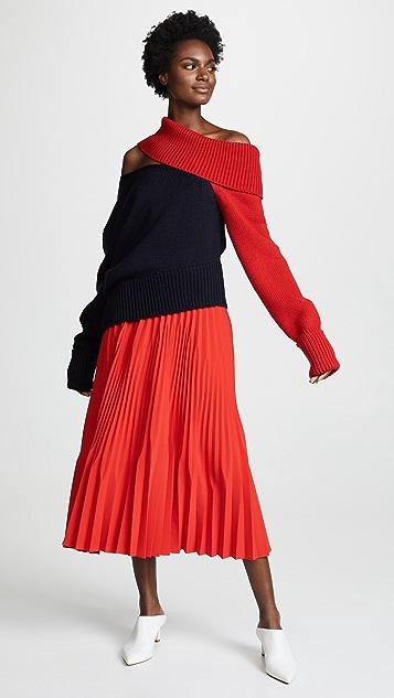 Monse Two Tone Slashed Sweater