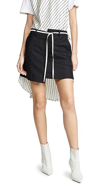 Monse Pinstripe Shirt Back Skirt