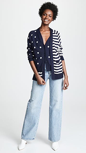 Monse Dot and Stripe Double Cardigan