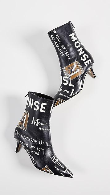 Monse Ботильоны с принтом Package