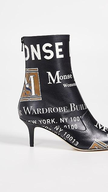 Monse Package Print Booties