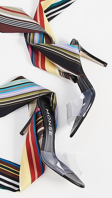 Monse Rainbow Ankle Wrap Sandals