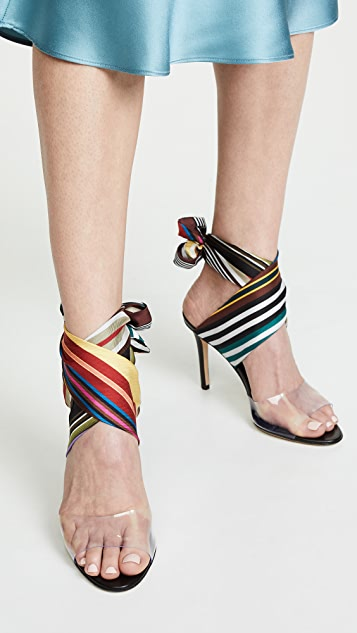 Monse Rainbow Ankle Wrap Sandals