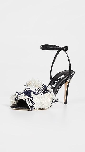 Monse 绑带花呢凉鞋
