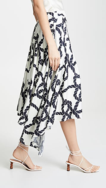Monse Rope Print Apron Shorts