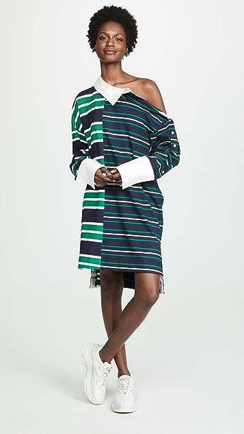 Monse 条纹橄榄球连衣裙