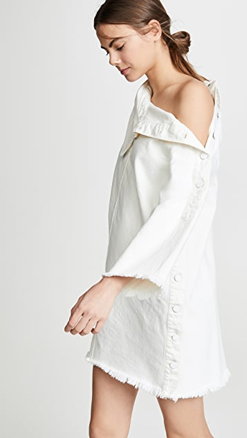 Monse Side Placket Denim Dress