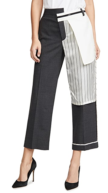 Monse Inside Out Pinstripe Pocket Pants