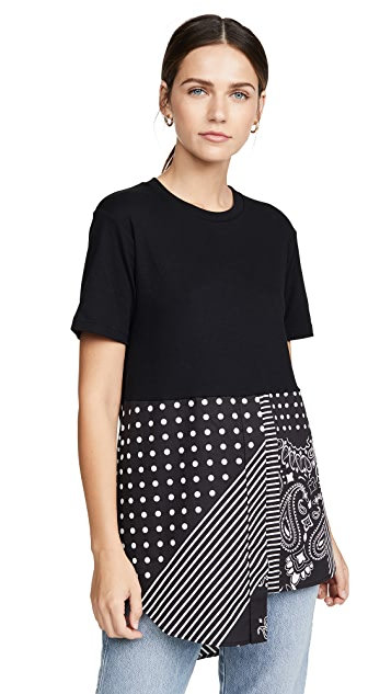 Monse Bandana Shirttail Tee