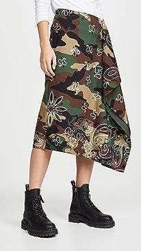 Camo Handkerchief Skirt