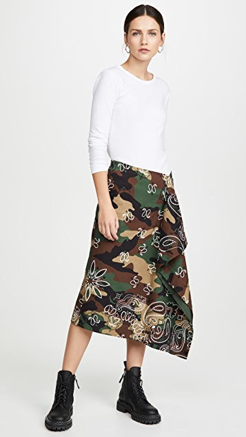 Monse Camo Handkerchief Skirt