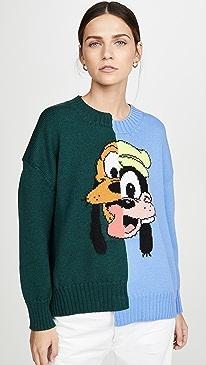 Pluto and Goofy Split Sweater