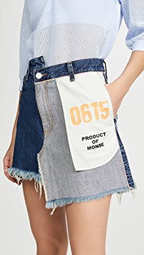 Inside Out Denim Skirt