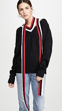 Tie Back Drop Shoulder Knit