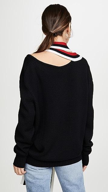Monse Tie Back Drop Shoulder Knit