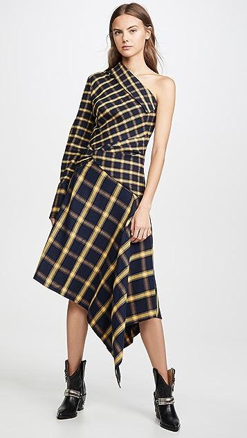 Monse Asymmetrical Patchwork Dress