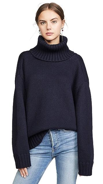 Monse 露背式 T 领毛衣