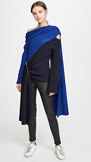 Monse Двухцветный трикотажный шарф