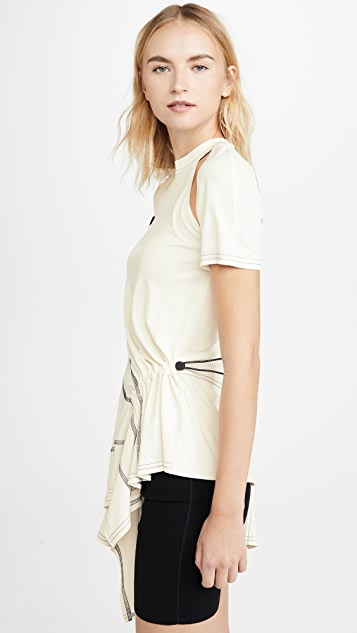 Monse Deconstructed Cycling Top