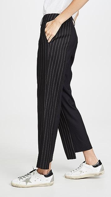 Monse Двухцветные асимметричные брюки в тонкую полоску