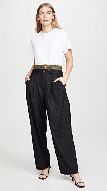 Monse Pinstripe Pleated Trousers