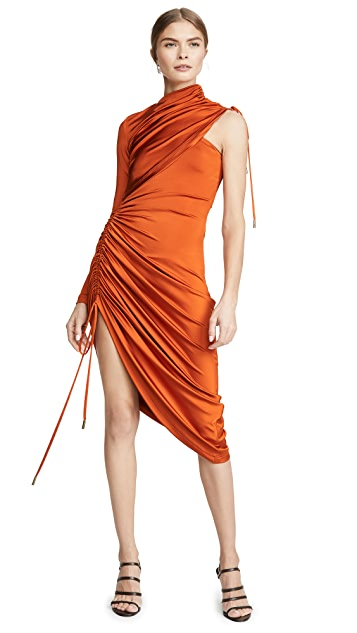 Monse Asymmetrical Drawstring Jersey Dress