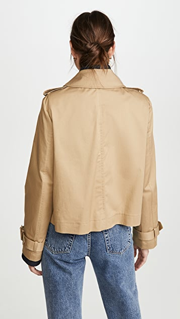 Monse Half and Half Cropped Jacket