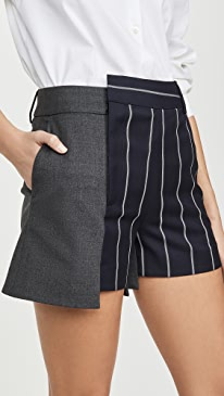 Pinstripe Extended Shorts