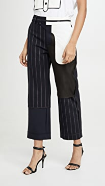 Pinstripe Inside Out Patchwork Pants