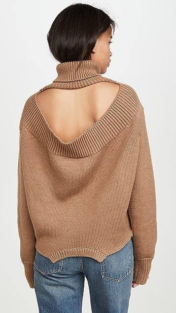 Monse Cowl Back Upside Down Sweater